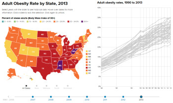 Adult Obesity Rate by State, 2013