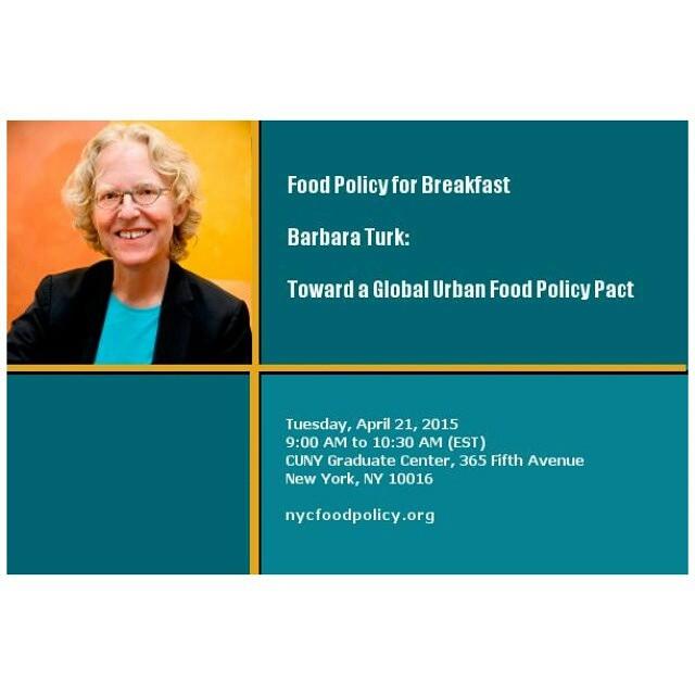 Barbara Turk at CUNY's Graduate Center (April 21, 2015) #nyc…