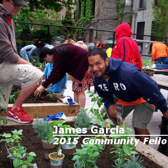 James Gracia 2015 Community Fellow #food #EastHarlem #nyc #garden #CommunityFellow…