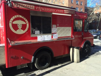 A food truck in East Harlem