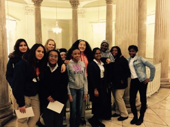 L4L Student leaders from the Bushwick Youth Food Policy Council and the Union Settlement Bridges Program