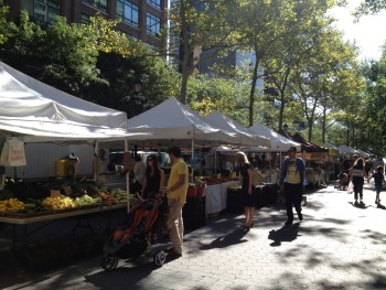 A Greenmarket located on East 47th Street, in Dag Hammarskald Plaza