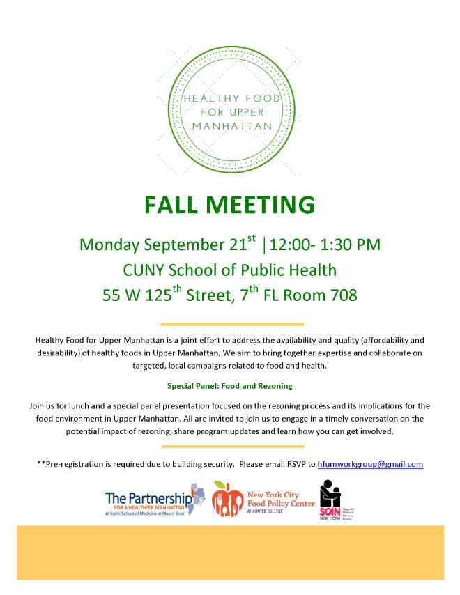 HFUM Fall Meeting Blast