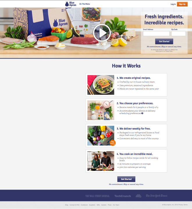 Screen Grab Blue Apron