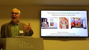 Nicholas Freudenberg presents at the European Public Health