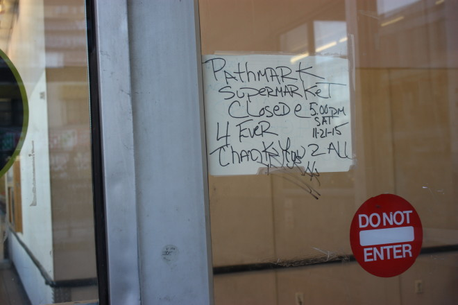 pathmark goodbye sign 11 23 2015