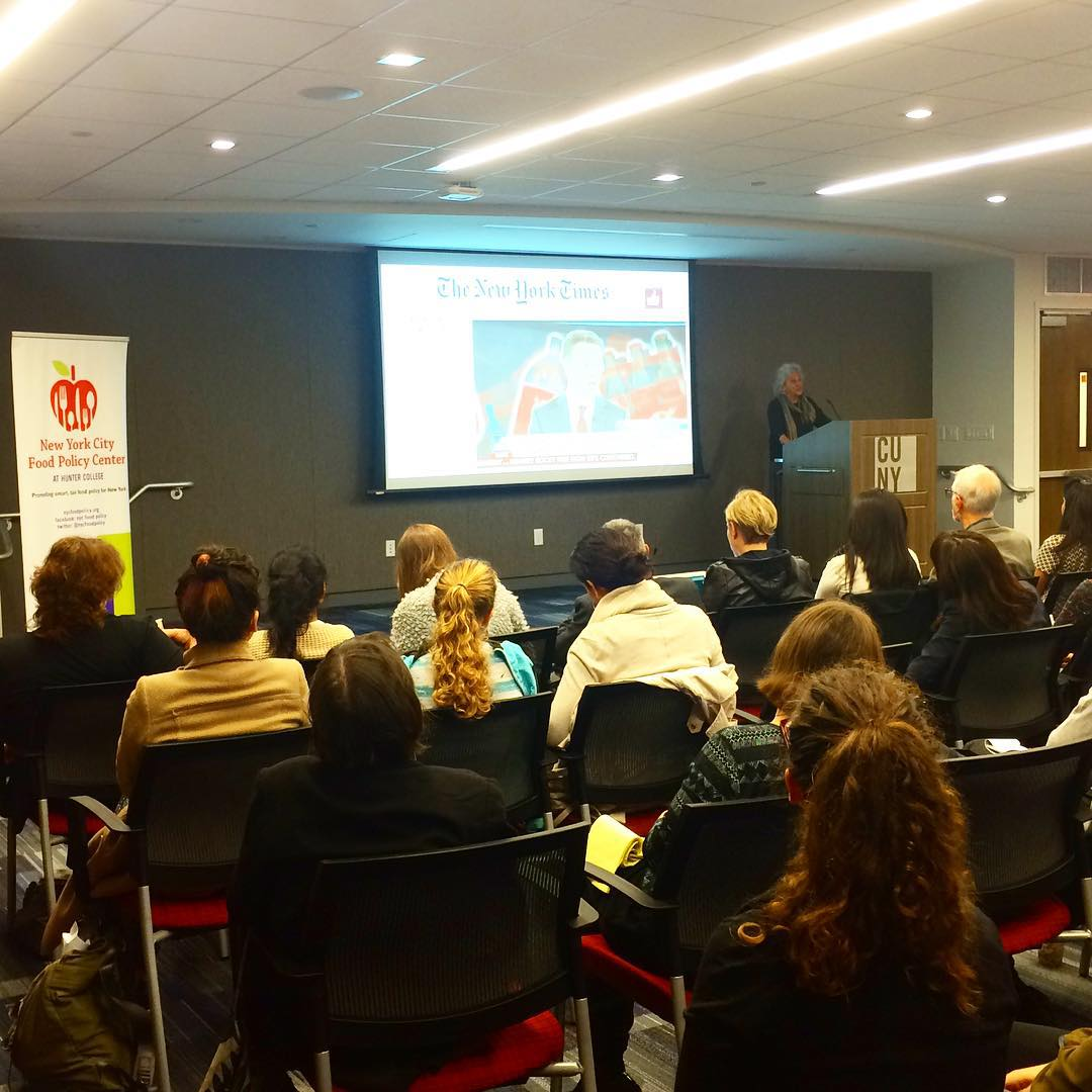 marionnestle brings Soda Politics uptown to cunysph